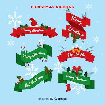 Weihnachtsbänder eingestellt
