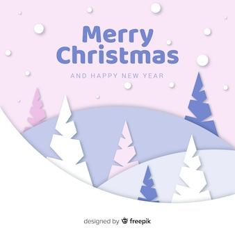 Weihnachtsbäume im papierstil