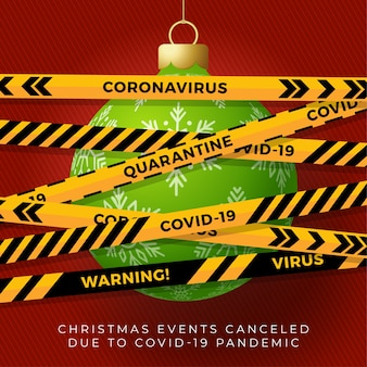 Weihnachtsball und quarantäne biohazard gefahr