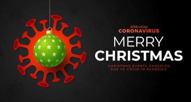 Weihnachtsball und quarantäne coronavirus gefahr