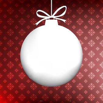 Weihnachtsballhintergrund mit kopienraum und schneeflockenmuster