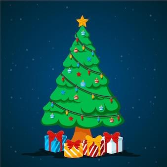 Weihnachtsbaum 2d illustration