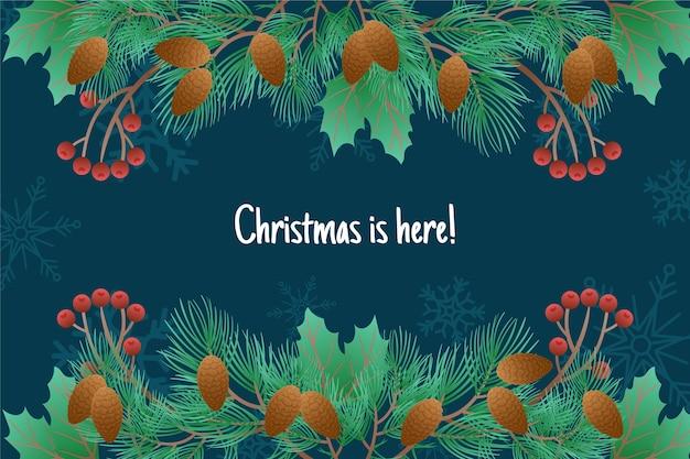 Weihnachtsbaum äste hintergrund