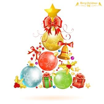 Weihnachtsbaum auf weiß