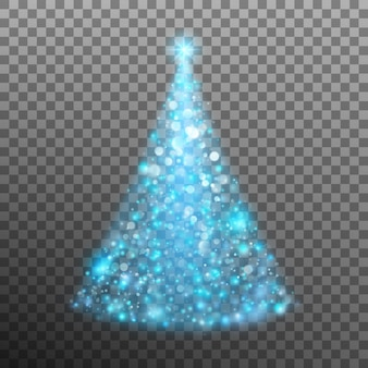 Weihnachtsbaum aus licht und bokeh.
