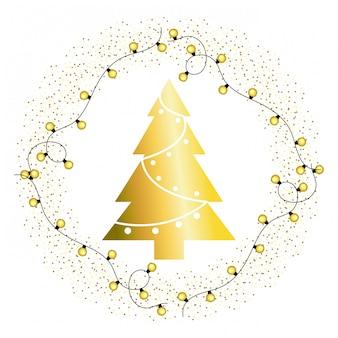 Weihnachtsbaum-cartoon-grußkarte