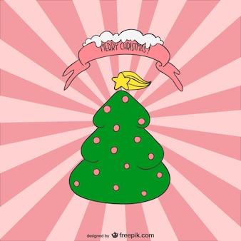 Weihnachtsbaum cartoon-vektor