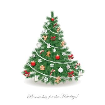 Weihnachtsbaum dekoriert