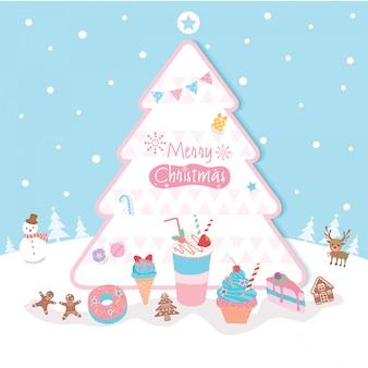 Weihnachtsbaum-dessert