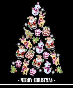 Weihnachtsbaum-familie