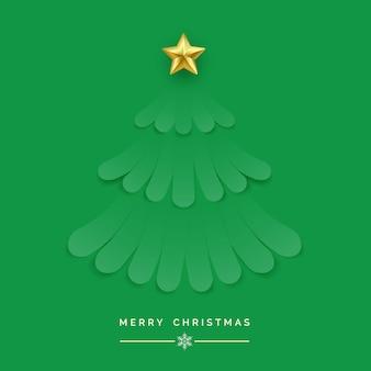 Weihnachtsbaum gemacht von den grünen bändern auf grünem hintergrund