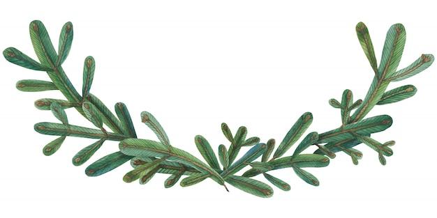 Weihnachtsbaum-grüne girlande
