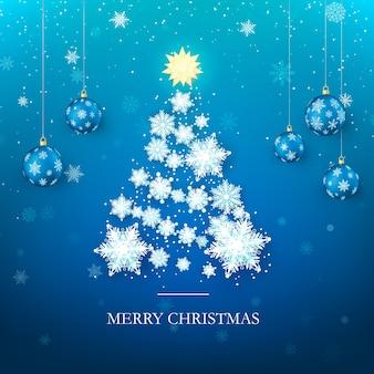 Weihnachtsbaum-grußentwurf