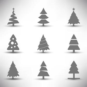Weihnachtsbaum icons set