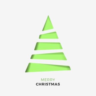 Weihnachtsbaum in papierart