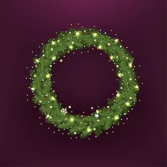 Weihnachtsbaum kranz.