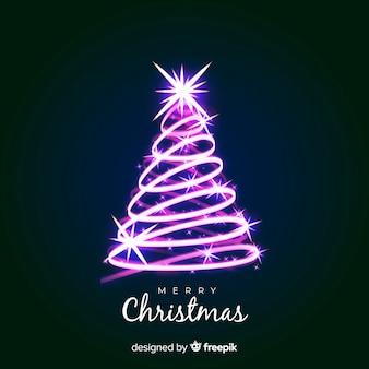Weihnachtsbaum Lichtlinie Hintergrund