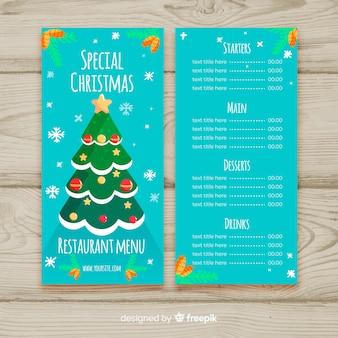 Weihnachtsbaum menü vorlage