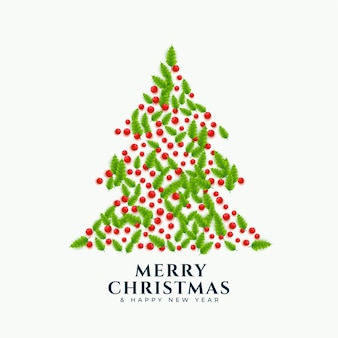 Weihnachtsbaum mit blattdekoration gemacht