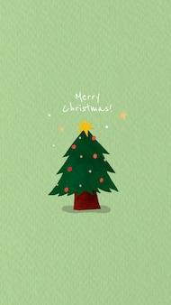 Weihnachtsbaum mit frohen weihnachtsbotschaft