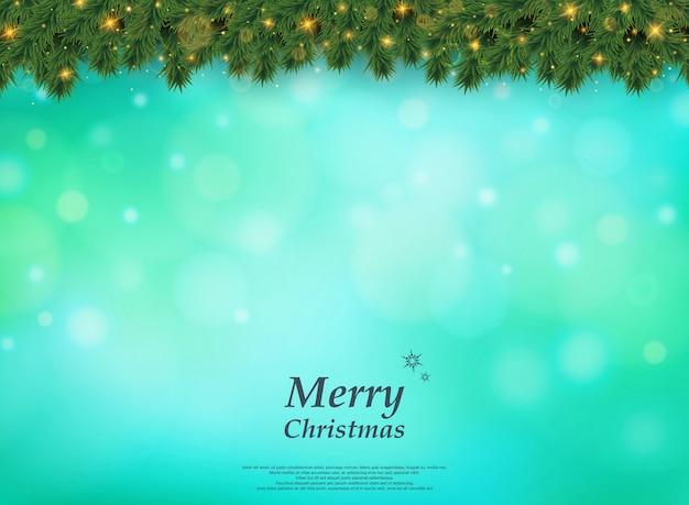 Weihnachtsbaum mit goldenem funkelnmuster