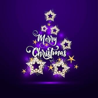 Weihnachtsbaum mit sternen.