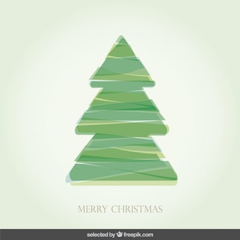 Weihnachtsbaum mit streifen versehen,