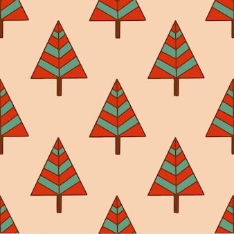 Weihnachtsbaum muster hintergrund social media post weihnachtsdekoration vektor illustration