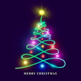 Weihnachtsbaum-neonillustration