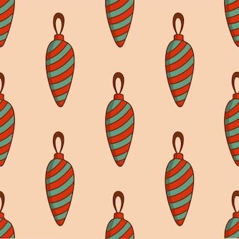 Weihnachtsbaum ornament muster hintergrund weihnachtsdekoration vektor illustration
