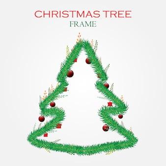 Weihnachtsbaum pelz rahmen mit weihnachtsbaum