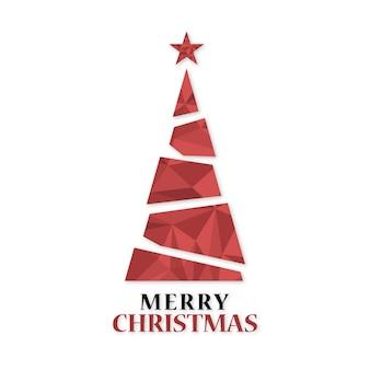 Weihnachtsbaum polygonal