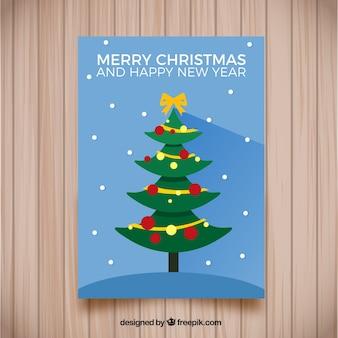 Weihnachtsbaum-stil lange schatten