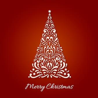 Weihnachtsbaum voller strudel und sterne