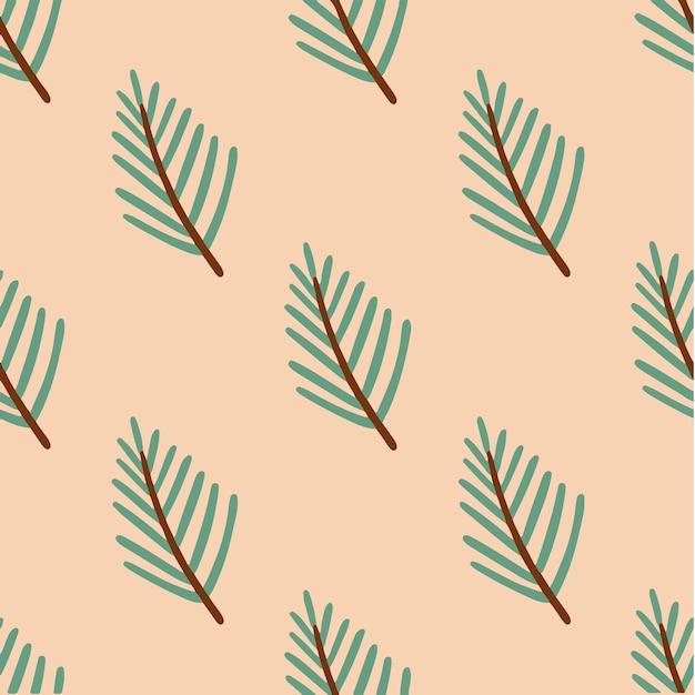 Weihnachtsbaum-zweig-muster-hintergrund-weihnachtsdekoration-vektor-illustration