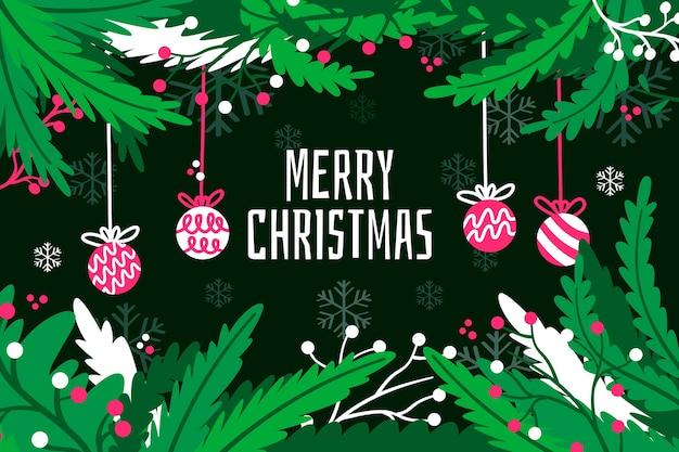 Weihnachtsbaumaste in den grünen tönen