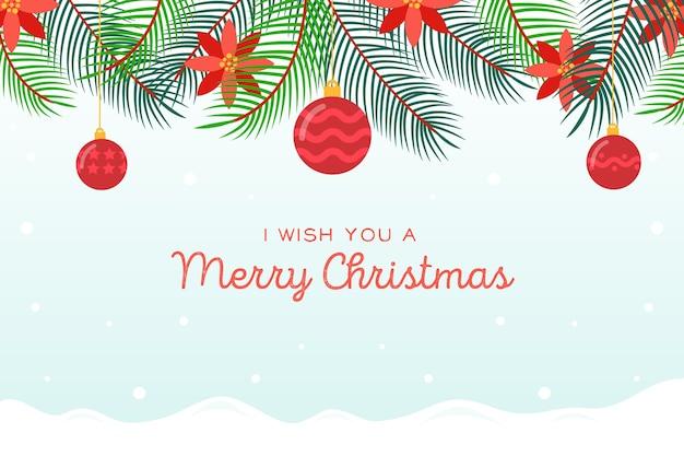 Weihnachtsbaumaste und weihnachtsbälle