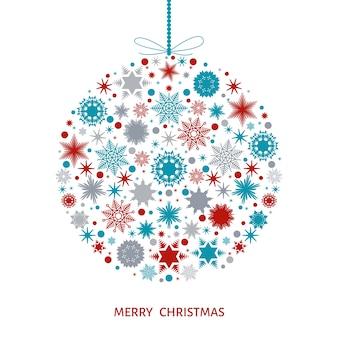 Weihnachtsbaumdekoration weihnachtsball mit bunten schneeflocken