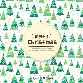 Weihnachtsbäume Hintergrund
