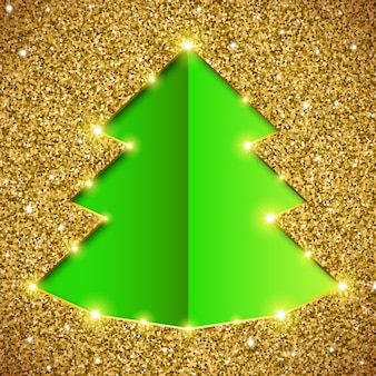 Weihnachtsbaumkarte mit funkeln