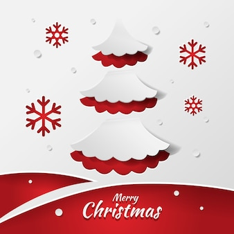 Weihnachtsbaumkonzept in der papierart