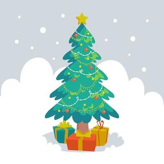 Weihnachtsbaumkonzept mit 2d design