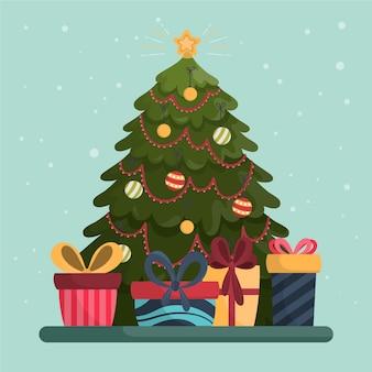 Weihnachtsbaumkonzept mit 2d effekt