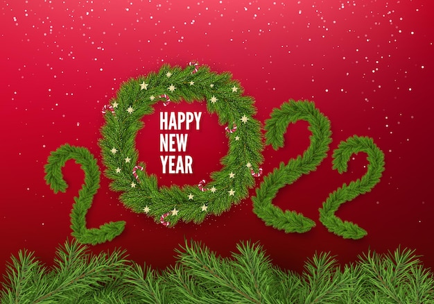 Weihnachtsbaumkranz verziert mit weihnachtskugeln und zuckerstangen statt null
