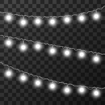 Weihnachtsbeleuchtung auf transparentem hintergrund isoliert,