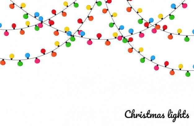 Weihnachtsbeleuchtung. bunte dekorative birnen für dekoration an einem weihnachtsfest.
