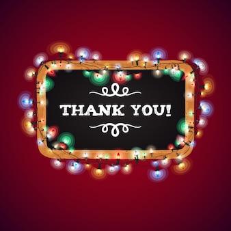 Weihnachtsbeleuchtung danke banner