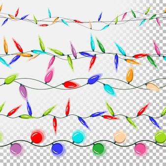 Weihnachtsbeleuchtung farbige girlanden