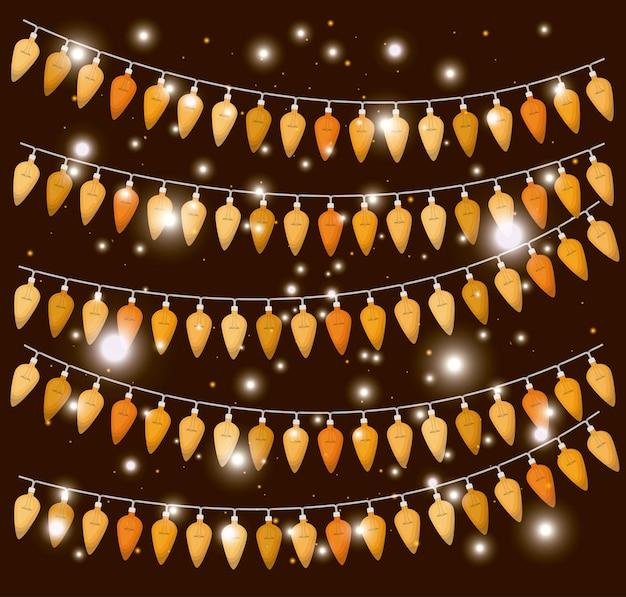 Weihnachtsbeleuchtung hängende dekoration