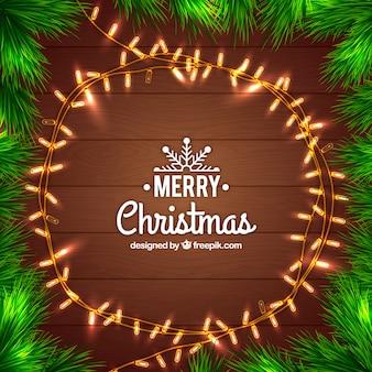 Weihnachtsbeleuchtung im kreis